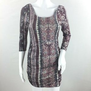 Free People Floral Bodycon dress size small